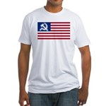 American flag Fitted T-Shirt
