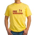 Free mammograms Yellow T-Shirt