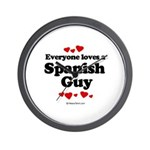 Everyone loves a Spanish Guy -  Wall Clock