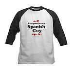 Everyone loves a Spanish Guy -  Kids Baseball Jers