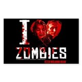 I heart Zombies Decal