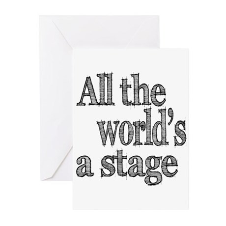All the World's a Stage Greeting Cards (Pk of 10)