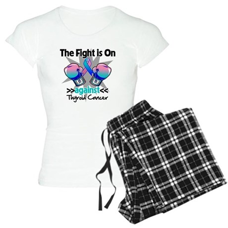 Fight is On Thyroid Cancer Women's Light Pajamas