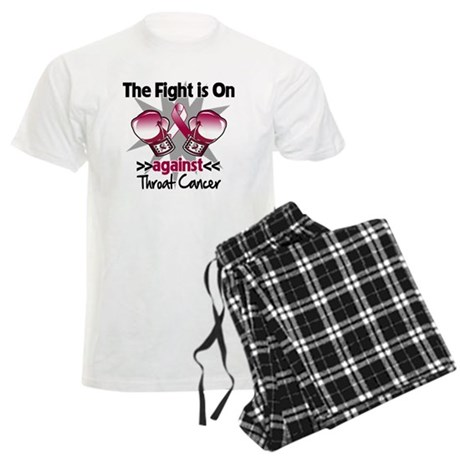 Fight is On Throat Cancer Men's Light Pajamas