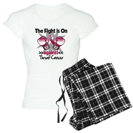 Fight is On Throat Cancer Women's Light Pajamas