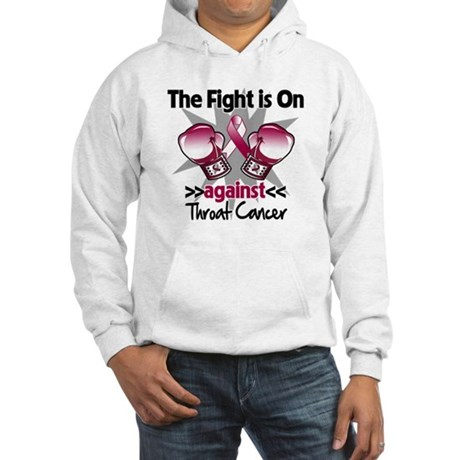 Fight is On Throat Cancer Hooded Sweatshirt