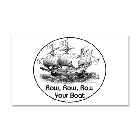 ROW ROW ROW YOUR BOAT Car Magnet 20 x 12