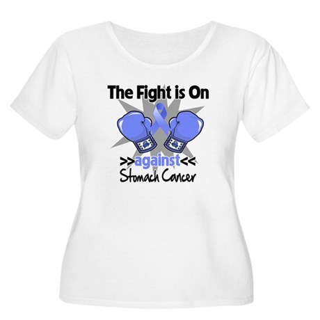 Fight is On Stomach Cancer Women's Plus Size Scoop