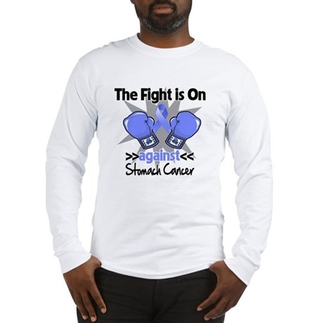 Fight is On Stomach Cancer Long Sleeve T-Shirt