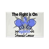 Fight is On Stomach Cancer Rectangle Magnet (10 pa