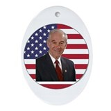 Ron Paul Ornament (Oval)