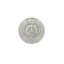 Aztec Sun Stone Calendar Mini Button (10 pack)
