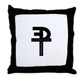 Throw Pillow (Soft Black)