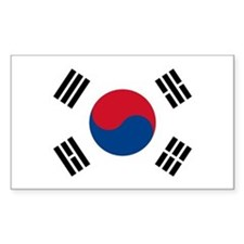 South Korea World Flag Bumper Decal