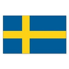 Sweden World Flag Bumper Decal