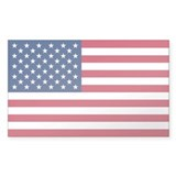 USA World Flag Bumper Decal