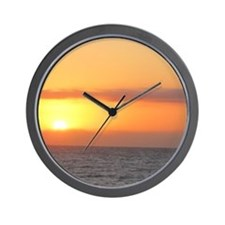 Wall Clock, sunset beach
