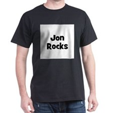 Jon Rocks Black T-Shirt