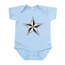 Nautical Star Black Infant Bodysuit