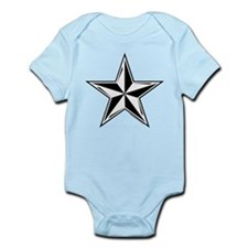 Nautical Star Black Onesie