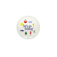 Let's go fishing! Mini Button (10 pack)