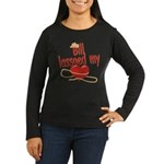 Bill Lassoed My Heart Women's Long Sleeve Dark T-S