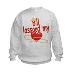 Bill Lassoed My Heart Kids Sweatshirt