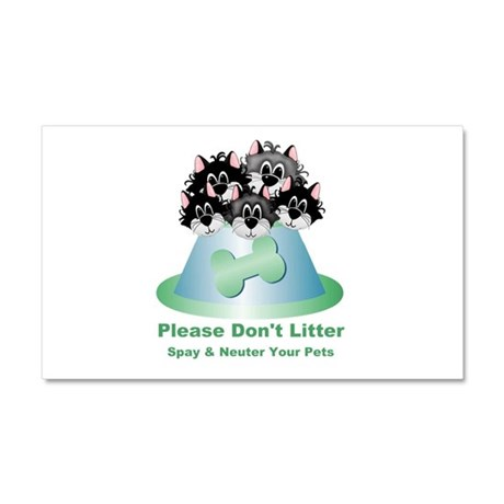 Neuter Litter Cats Car Magnet 20 x 12