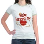 Blake Lassoed My Heart Jr. Ringer T-Shirt