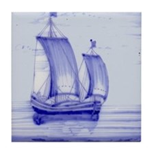 Blue Ship Tile: Tile Coaster