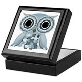 Little Blue Owl Keepsake Box