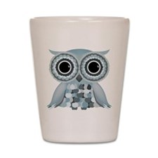 Little Blue Owl Shot Glass