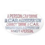 Corporate Personhood Oval Decal