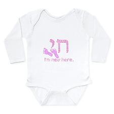 Chai, I'm new here! Long Sleeve Infant Bodysuit