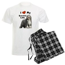 I Love My Bearded Collie Pajamas