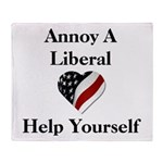 Annoy A Liberal Throw Blanket