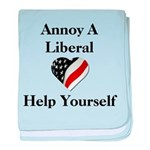 Annoy A Liberal baby blanket