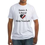 Annoy A Liberal Fitted T-Shirt
