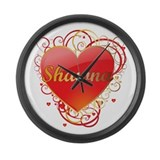 Shawna Valentines Large Wall Clock