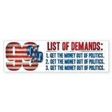 99% Demands Bumper Bumper Sticker