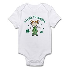 Irish Princess Stick Figure Infant Bodysuit
