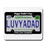 Fathers Day License Plate Mousepad (from DAUGHTER)