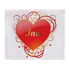 Ina Valentines Throw Blanket