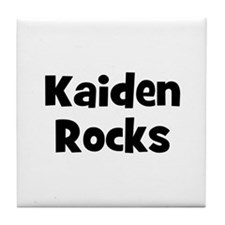Kaiden Rocks Tile Coaster