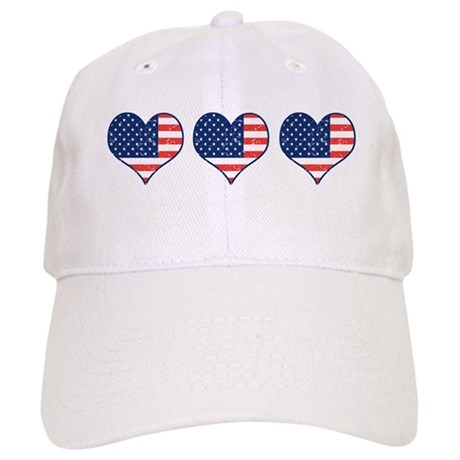 Little Patriotic Hearts Cap