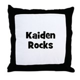 Kaiden Rocks Throw Pillow