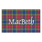 Tartan - MacBeth Sticker (Rectangle 50 pk)