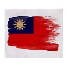 Taiwan Flag Throw Blanket