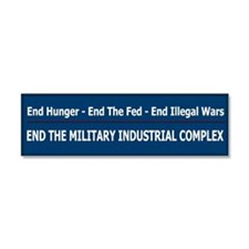 End Illegal Wars - Car Magnet 10 x 3