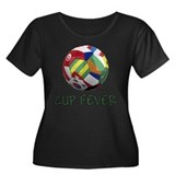 World Cup Fever Women's Plus Size Scoop Neck Dark